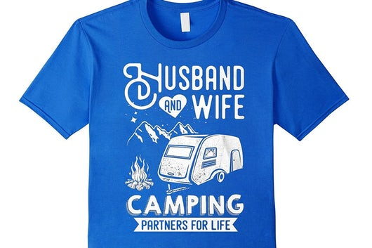 Camping T Shirt Husband Wife