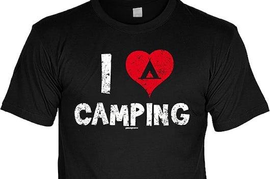 I Love Camping T Shirt 2