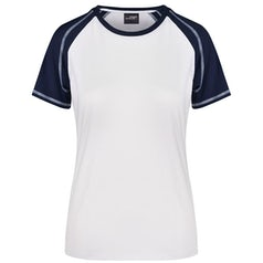 Dames T Shirt Duo Color Jn011 White Navy