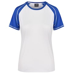 Dames T Shirt Jn011 Duo Color White Royal