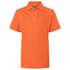 Jn070 Kids Polo Dark Orange