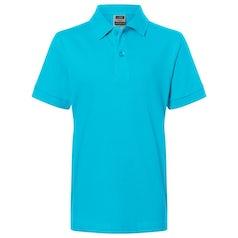 Jn070 Kids Polo Turquoise
