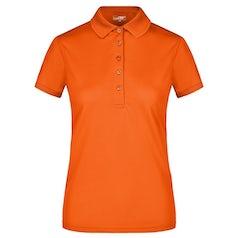 Jn574 Active Damespolo Dark Orange