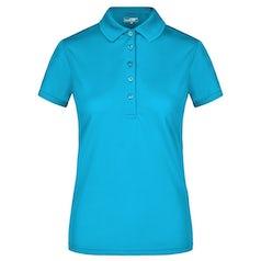Jn574 Active Damespolo Turquoise