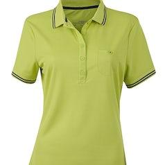 Jn701 Dames Poloshirt Micropolyester Acid Yellow Carbon