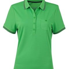 Jn701 Dames Poloshirt Micropolyester Green Carbon