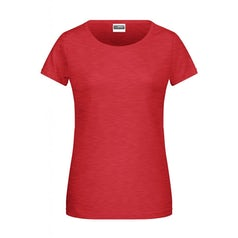 Jn8007 Dames T Shirt Organic Carmine Red Melange