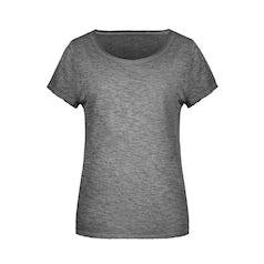Jn8015 Organic Dames Slub T Shirt Graphite