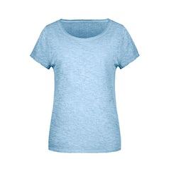 Jn8015 Organic Dames Slub T Shirt Horizon Blue