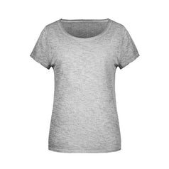 Jn8015 Organic Dames Slub T Shirt Light Grey