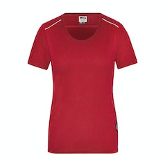 Jn889 Dames Werk T Shirt Solid Red