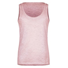 Jn8017 Tanktop Dames Slub Stof Kleur Light Pink