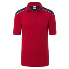 Jn858 Red Navy Heren Werkpolo