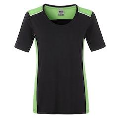 Jn859 Black Lime Dames Werk T Shirt