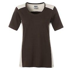 Jn859 Brown Stone Dames Werk T Shirt