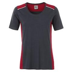Jn859 Carbon Red Dames Werk T Shirt