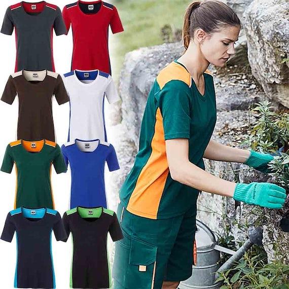 Jn859 Dames Werk T Shirt Duo Color Wasbaar Op 60 Graden