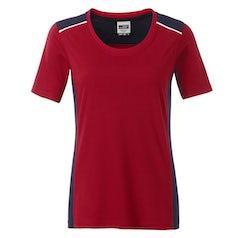 Jn859 Red Navy Dames Werk T Shirt