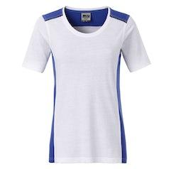 Jn859 White Royal Dames Werk T Shirt