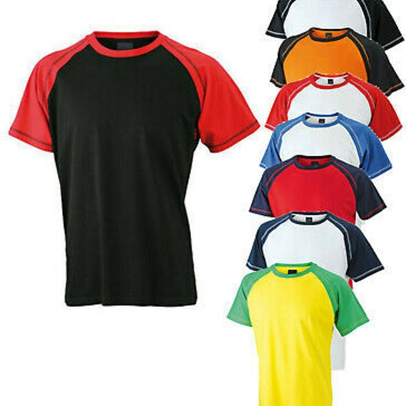 James Nicholson Jn010 Herren T Shirt Mens Raglan T