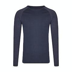 My210 Heren Longsleeve T Shirt Navy Heather Navy