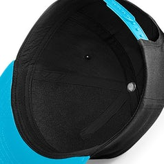 B615 Kids Snapback Black Surf Blue Inside
