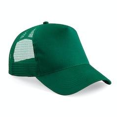 B640 Truckers Cap Cotton Bottle Green