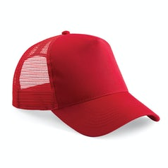 B640 Truckers Cap Cotton Classic Red Red