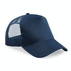 B640 Truckers Cap Cotton French Navy
