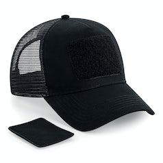 B641 Patch Snapback Trucker Cap Black