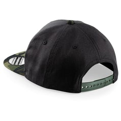 B691 Snapback Black Jungle Camo Back