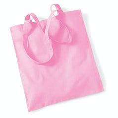 Draagtas Katoen Lang Handvat Classic Pink