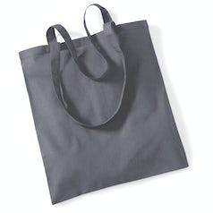 Draagtas Katoen Lang Handvat Graphite Grey