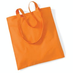 Draagtas Katoen Lang Handvat Orange
