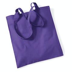 Draagtas Katoen Lang Handvat Purple