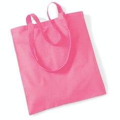 Draagtas Katoen Lang Handvat True Pink