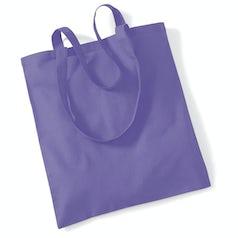 Draagtas Katoen Lang Handvat Violet