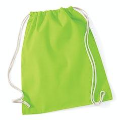 W110 Katoenen Rugtas Lime Green