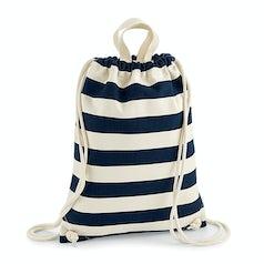 W686 Nautical Gym Bag Rugtas Natural Navy