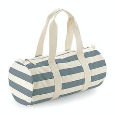 W688 Nautical Barrel Bag Natural Grey