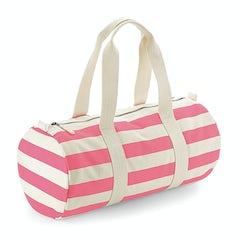 W688 Nautical Barrel Bag Natural Pink