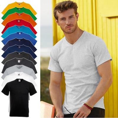 Fruit Of The Loom Valueweight V Neck T Shirt 61 066 0