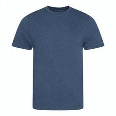 Jt001 Heren T Shirt Tri Blend Heather Navy Torso