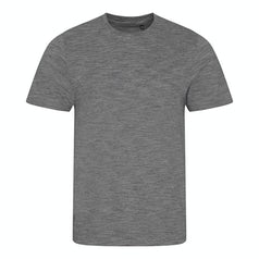 Jt031 Heren T Shirt Cosmic Blend Heather Grey Black