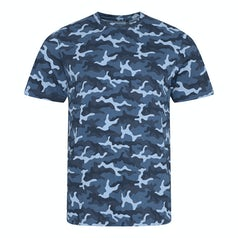 Jt034 Camo Heren T Shirt Blue Camo