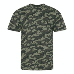 Jt034 Camo Heren T Shirt Green Camo
