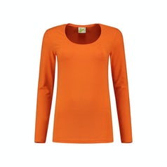 Lem1267 Dames Longsleeve Orange