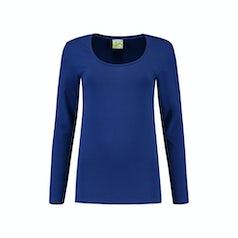 Lem1267 Dames Longsleeve Royal Blue