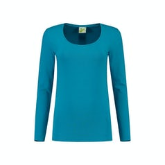 Lem1267 Dames Longsleeve Turquoise