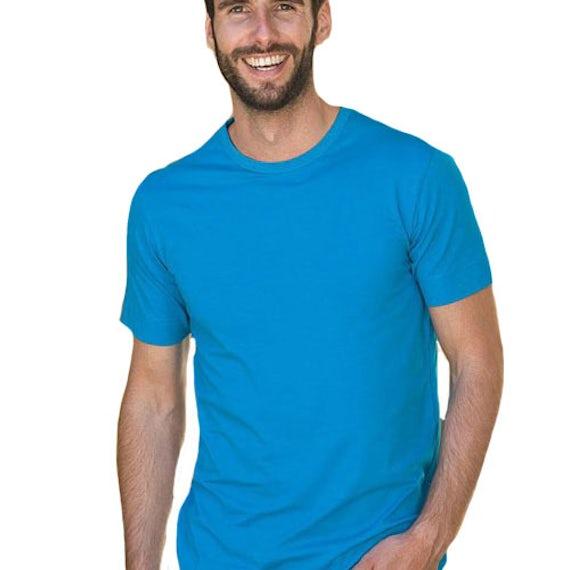 Lem1269 T Shirt Crewneck Cotton Elasthan Men